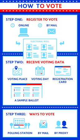 proxy: Election or other voting campaign infographics