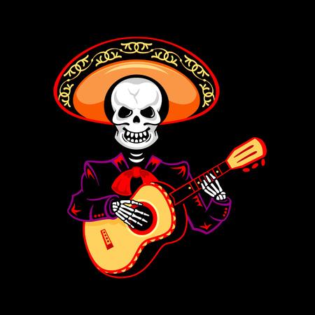 guitarrista Mariachi para el Día de los Muertos