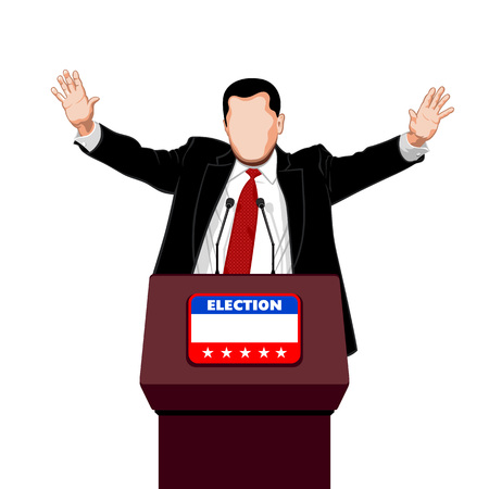Politiker begrüßt seinen Wahlkampf Stützer