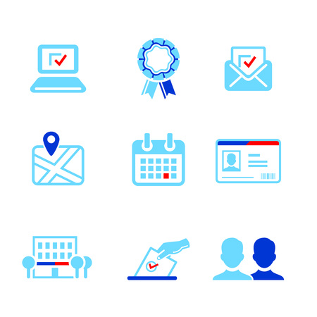 Election or other voting campaign icons