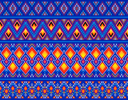 Decorative Greenland linen patterns as samples and vector brushes