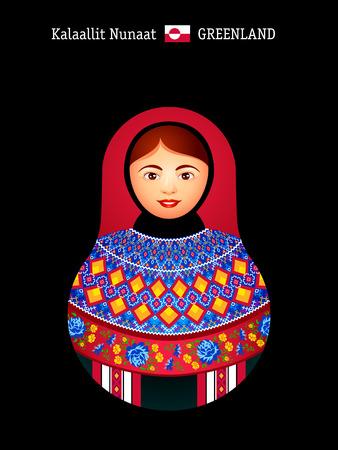matryoshkas: Matryoshkas of the World: Greenland inuit girl