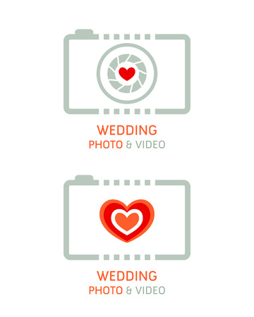 Wedding photo and video agency symbols Stock Vector - 67223731
