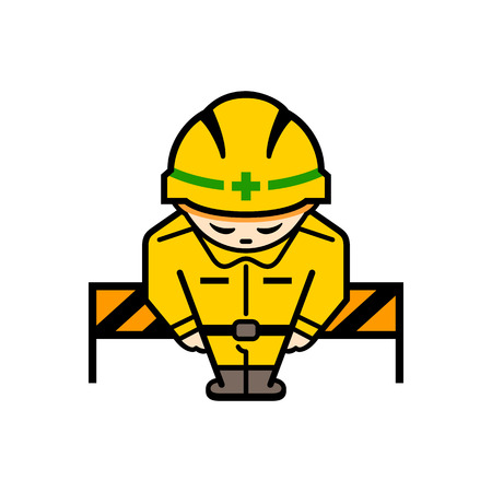 restricted area sign: Sorry for inconvenience. Under construction sign Illustration