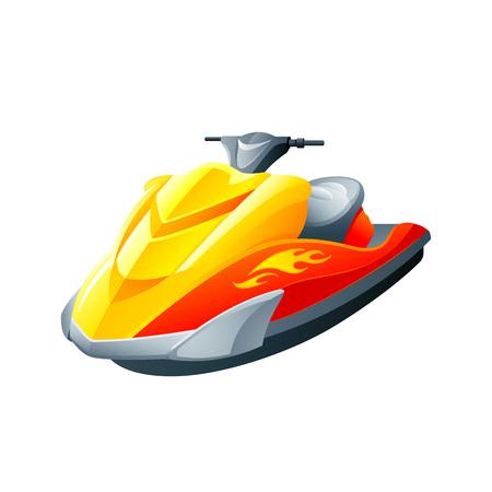 Flashy sport motorboat or ski jet Ilustracja