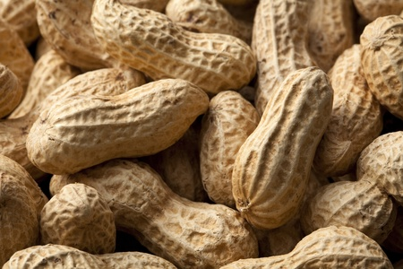 Close-up of some peanuts. background Stock Photo