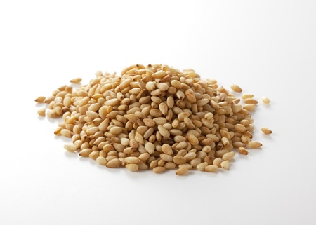 Sesame seeds isolated on white background Stock Photo