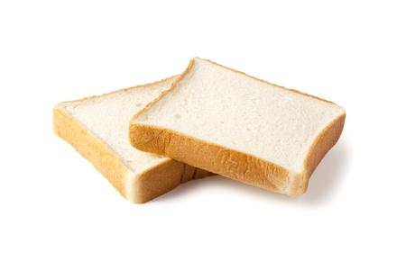 スライスされたパンの白い背景で隔離