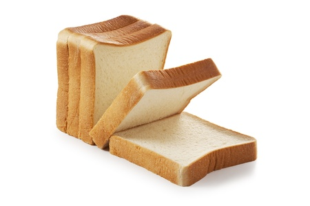 crust: sliced bread isolated on white background