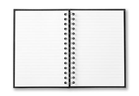 白い背景で隔離のノートブック