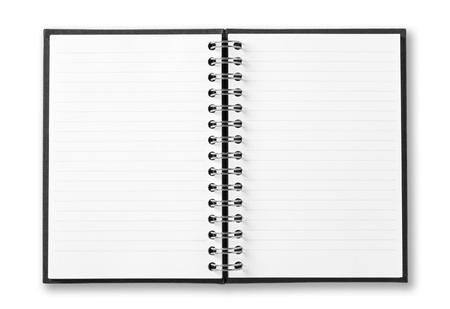 notebook page: notebook isolated on white background Stock Photo