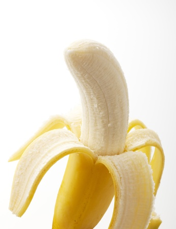 bananas on a white background Imagens