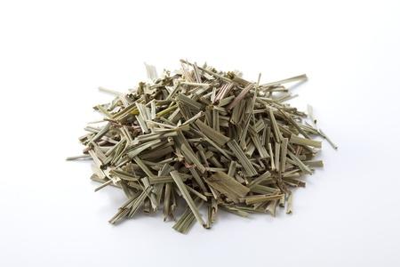 dry grass: Lemon grass on white background Stock Photo