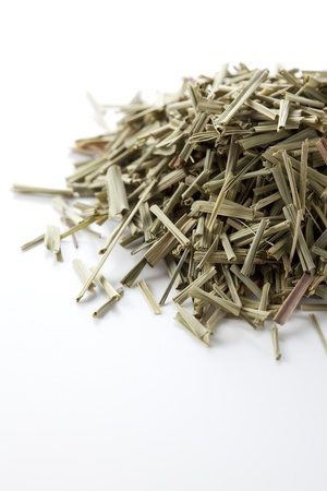 Lemon grass on white background photo