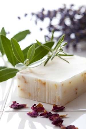 Handmade Soap closeup.Spa products Stock Photo - 10259340