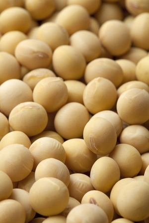 asian produce: Macro shot of soybeans fills the frame