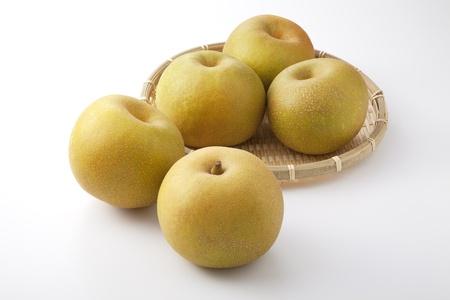 Food - Fruits - Nashi pears isolated on white background. Stock Photo
