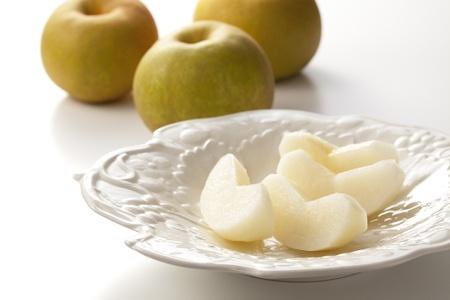Food - Fruits - Nashi pears isolated on white background. photo