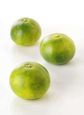 japanese oranges on white background photo