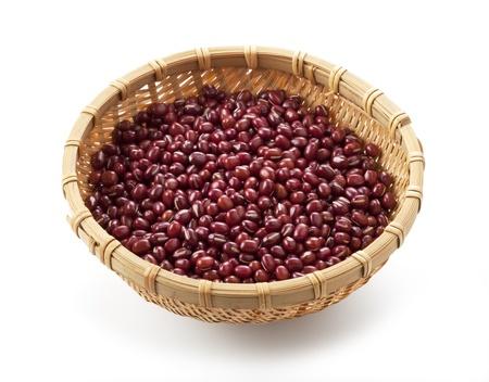 adzuki bean: azuki beans on white background