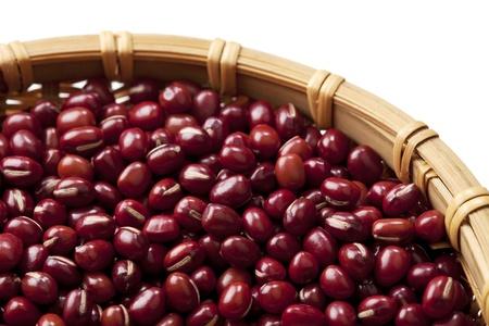 adzuki bean: Macro view of adzuki beans Stock Photo