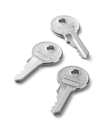 keys on a white background photo