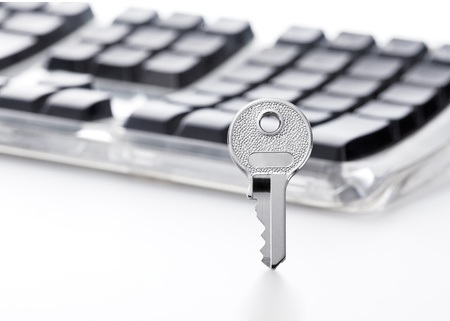 Security concept Key and keyboard photo