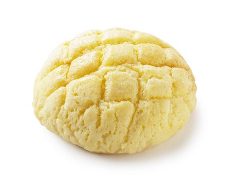 cream puff: Sweetened bun was placed on a white background