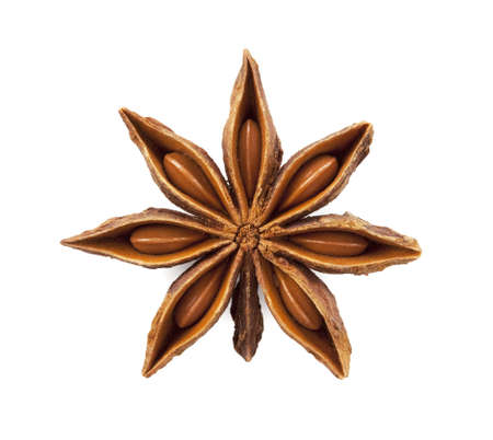 Star anise was placed on a white background Stock Photo - 12730343