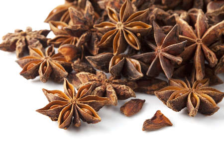 Star anise was placed on a white background Stock Photo - 12730289
