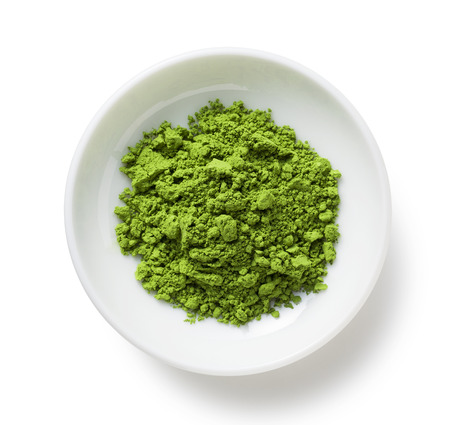 Green Tea powder on the plate
