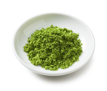 green powder: Green Tea powder on the plate
