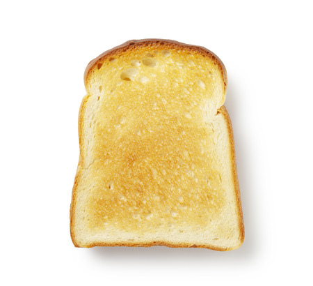 Slice of white bread isolated on white Stok Fotoğraf
