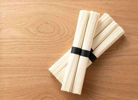 Japanese very thin noodle made of wheat flour