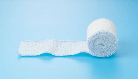 Bandages on a blue background.