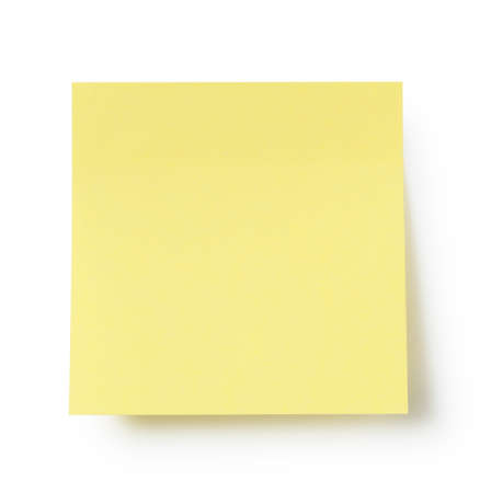 Yellow sticky notes on a white background