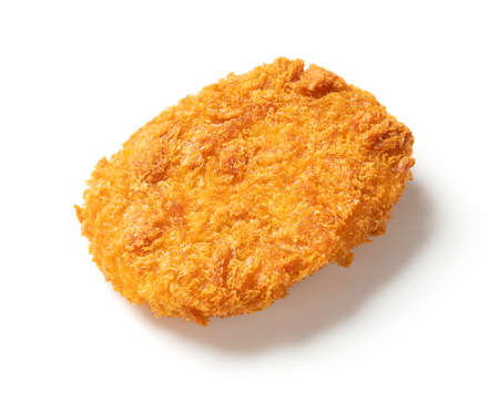 Croquettes on a white background