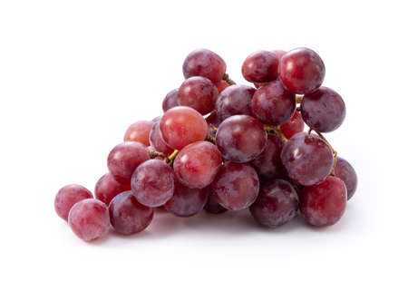 Red Globe (grape variety) placed on a white background