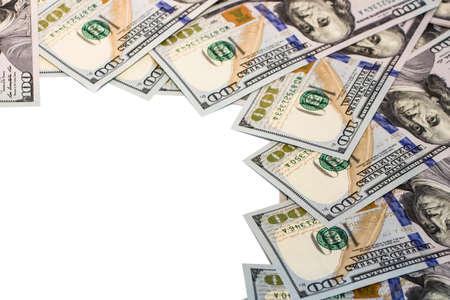 Background with money american hundred dollar bills Standard-Bild