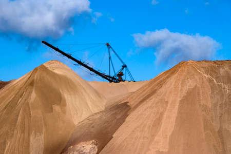 Salt dumps. Heaps. Waste from the production of potash fertilizers. Belarus. Salihorsk. 2020