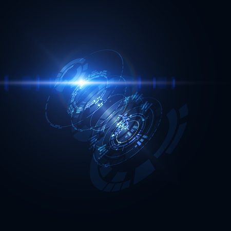 Abstract shiny technological HUD vector background.