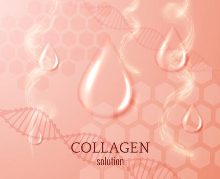 콜라겐은 벡터 배경 놓습니다. EPS10