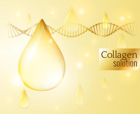 glowing skin: Collagen drop vector background. EPS10