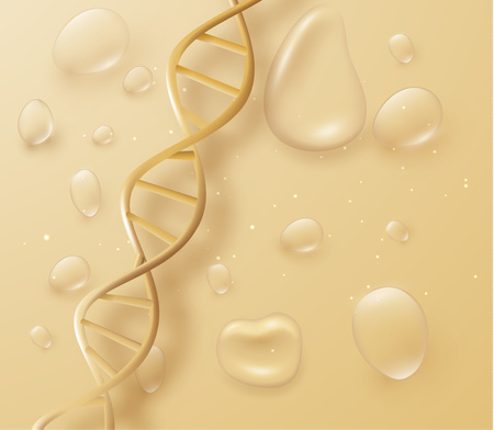 DNA structure vector background. Vector EPS10