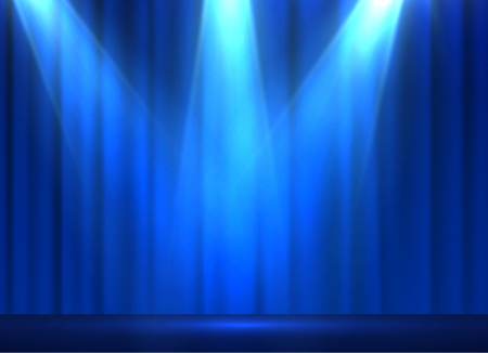 celebrities: Curtains vector background. EPS10. Illustration
