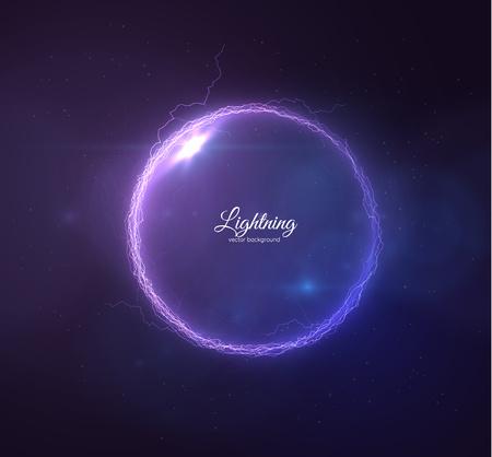 Lightning vector background. EPS10