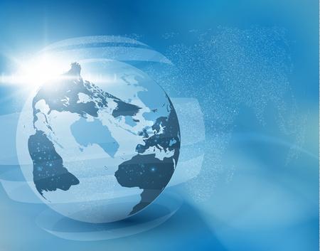 Earth globe vector background. EPS10.