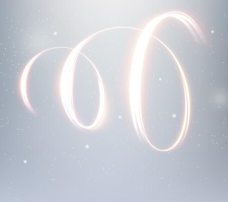 Golden shiny spiral lines vector background. EPS10 Illustration