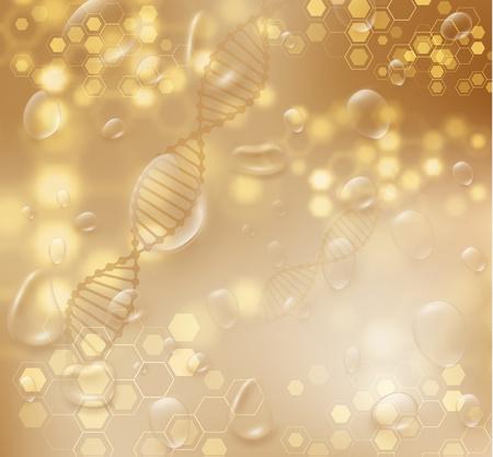Złote tło wektor struktury Dna. Koncepcja luksusowych kosmetyków do pielęgnacji skóry uroda. Eps10 wektor