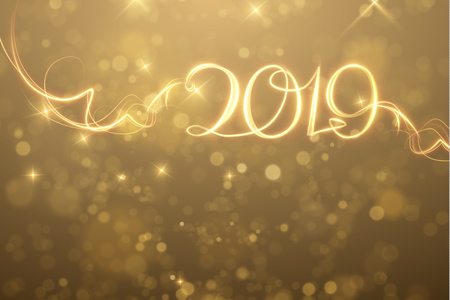 2019 abstract New Year holiday background. Vector eps10 Standard-Bild - 110162799